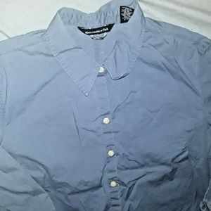 Abercrombie & Fitch Blue Top Shirt Large